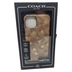 "iPhone 11 Pro 5.8"" Coach Leather Wrap Case Khaki"